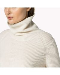 Tommy Hilfiger | White Wool Blend Polo Neck | Lyst
