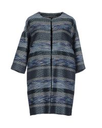 Pf Paola Frani | Blue Full-length Jacket | Lyst