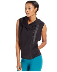 Nike | Black Tech Fleece Sleeveless Zip-front Hoodie | Lyst