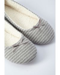 Forever 21 | Gray Stripe Slippers | Lyst