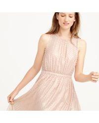 J.Crew - Pink Collection Metallic Clip-dot Dress - Lyst