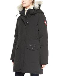 Canada Goose - Black Trillium Fur-hood Parka Jacket - Lyst