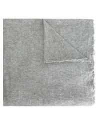 Faliero Sarti - Gray Frayed Oversize Scarf - Lyst