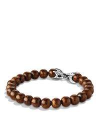 David Yurman | Brown Spiritual Beads Bracelet with Bronzite for Men | Lyst