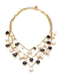 kate spade new york | Metallic Twinkle Lights Multi-strand Necklace | Lyst
