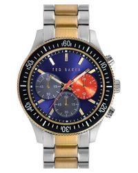 Ted Baker - Metallic 'Dress Sport' Chronograph Bracelet Watch for Men - Lyst