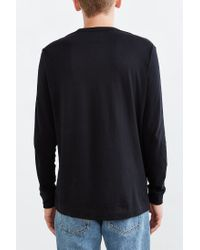 BDG - Black Long-sleeve Crew Neck Tee for Men - Lyst