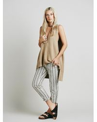 Free People | Natural Womens Lambswool Swing Vest | Lyst
