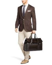 BOSS - Brown 'tablio' | Leather Workbag With Detachable Shoulder Strap for Men - Lyst