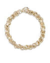 Rebecca Minkoff | Metallic Leather Hepburn Necklace | Lyst