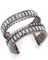 INC International Concepts - Brown Crystal Open Cuff Bracelet - Lyst
