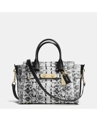 COACH - Metallic Swagger 27 In Colorblock Exotic Embossed Leather - Lyst