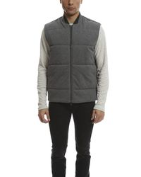 Vince - Black Quilted Knit Vest for Men - Lyst