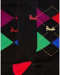 Pringle of Scotland - Black Argyle 3 Pack Socks for Men - Lyst