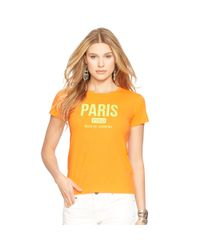 Polo Ralph Lauren - Orange Flagship Cotton Tee - Lyst