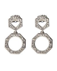 Nadri - Metallic Open Drop Earrings - Lyst
