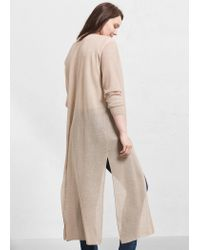 Violeta by Mango - Natural Long Cardigan - Lyst