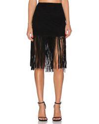 Muubaa - Black Milo Fringed Skirt - Lyst