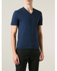 Gucci - Blue V-Neck T-Shirt for Men - Lyst