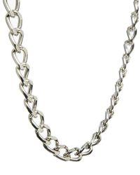 ASOS - Metallic Heavy Chain Necklace for Men - Lyst