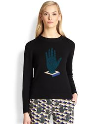 Opening Ceremony - Black Embroidered Hand Wool Sweater - Lyst
