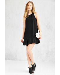 Lucca Couture - Black Drop-waist Shift Dress - Lyst