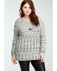 Forever 21 - Natural Plus Size Marled Cutout Back Sweater - Lyst