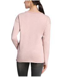 BOSS Orange Purple Sweatshirt 'talomas' In A Cotton Blend