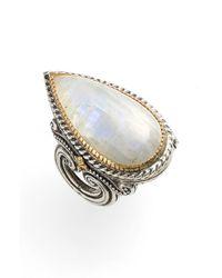 Konstantino | Metallic 'erato' Teardrop Stone Ring | Lyst