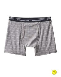 Banana Republic - Gray Factory Check-dot Boxer Brief for Men - Lyst