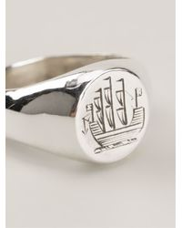 Henson - Metallic Ship Ring - Lyst