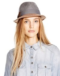 Bettina | Blue Two-tone Fedora | Lyst
