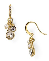 Carolee | Metallic Monaco Moments Drop Cluster Earrings | Lyst