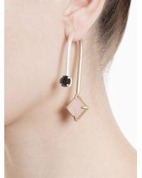 Volha | Metallic Geometric Stud Earring | Lyst