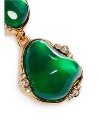 Kenneth Jay Lane | Green Cabochon Stone Drop Clip Earrings | Lyst