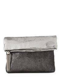La Regale | Metallic Seashell Pouch Clutch | Lyst