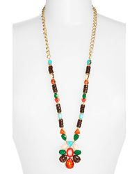 kate spade new york - Multicolor 'fine Art' Pendant Necklace - Multi/ Red/ Gold - Lyst
