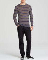 Armani - Gray Stripe Knit Sweater for Men - Lyst