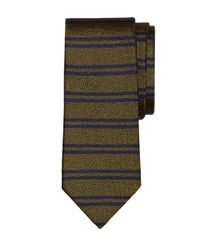 Brooks Brothers | Green Double Horizontal Stripe Tie for Men | Lyst