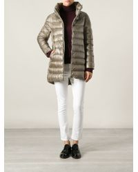 Herno - Brown Padded Coat - Lyst