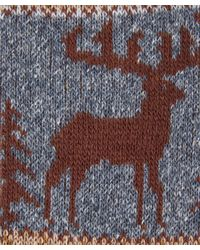 Anonymous Ism - Blue Reindeer Jaquard Crew Sock for Men - Lyst