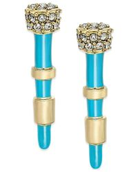 House of Harlow 1960 | Blue Gold-tone Turquoise-colored Spike Pavé Stud Earrings | Lyst