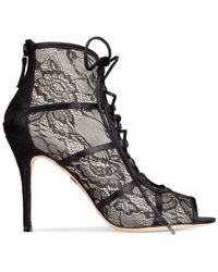 Badgley Mischka - Black Sherry Lace-Up Lace Boots - Lyst
