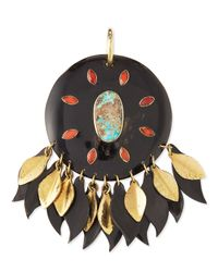 Ashley Pittman - Metallic Ndoto Dark Horn Medallion Pendant - Lyst