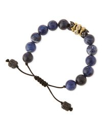 Armenta - Blue Old World Sodalite Beaded Diamond Bracelet - Lyst