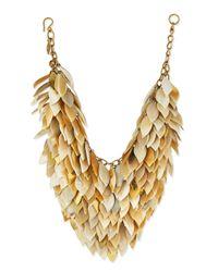 Ashley Pittman | Metallic Tanzu Light Horn Layered Chain Leaf Necklace | Lyst