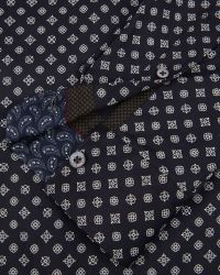 Ted Baker | Blue Wenfarh Ornate Geo Print Shirt for Men | Lyst