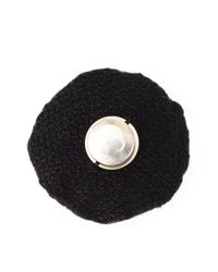 Ann Demeulemeester | Black Embroidered Pin | Lyst