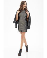 Forever 21 - Black Textured Mesh Shift Dress - Lyst