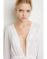 Forever 21 | Metallic Leaf Pendant Body Chain | Lyst